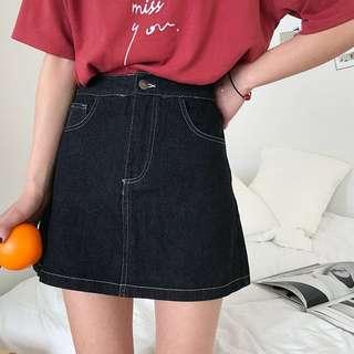 🚚 A Line Denim Skirt