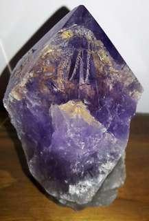玻利維亞紫黃晶骨幹,玻利維亞紫晶柱,玻利維亞紫水晶,玻利維亞紫黃晶,937克