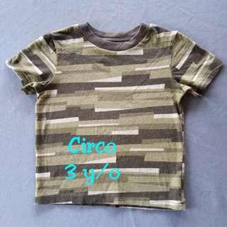 🍪Striped Army Green T-shirt