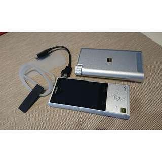 SONY 隨身聽 NW-ZX100 + SONY耳機擴大機 PHA-1A (整組賣不拆售)