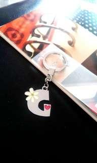 BNIP Minitoons Bright Silver flash G keychain