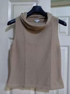 XOXO beige/nude cowl-neck blouse