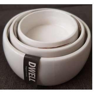 Dwell Condiments bowl (set of 3) with free Coffee french press