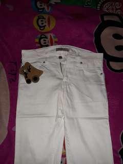celana jeans putih NEW