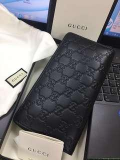 🚚 Gucci壓紋長夾(黑)