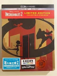 超人特工隊 Incredibles2 4K Ultra HD+Blu-Ray Limited-Steelbook 鐵盒版