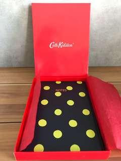 🚚 cath kidston authentic new original leather note book diary polka dot collection soft cover past season school stationery travel journal