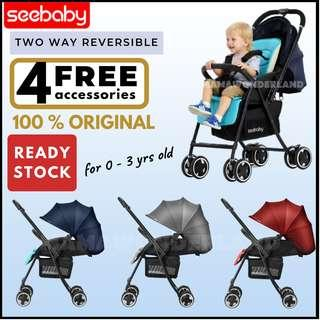 [Free 4 Gifts] Original Seebaby Two Way Reversible Baby Stroller High View Chair