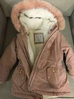Winter Jacket with fur hood - 18 to 24 months