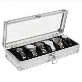 6 Aluminium Watch Case Brand New