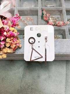 正韓——不對稱幾何圖形鋼針(可改耳夾)
