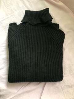 黑色高領樽領毛衣針織衫 sweater knitwear