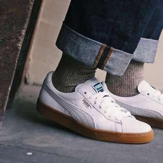 Sepatu Puma Original - Basket Classic Gum Deluxe White