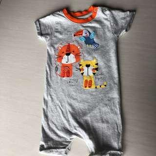 Mothercare tiger grey romper
