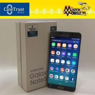 🚚 Samsung Galaxy Note 5 32 32GB Silver Duos Malaysia set Used