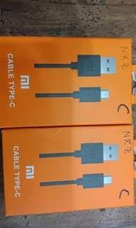 Cable data xiaomi tipe C
