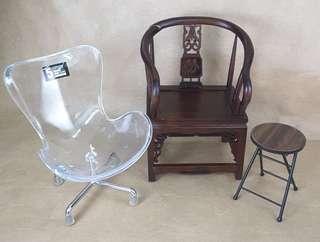 Enterbay 十二少 1/6 figure 配件 椅 三張,請留意交收時間與地點