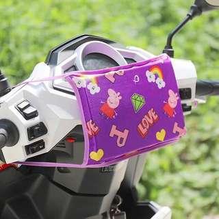 全新 紫色佩佩豬機車防撞墊