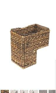 🚚 Creative Co-Op BacBac Leaves Woven Stair Staircase L Shape Storage Basket