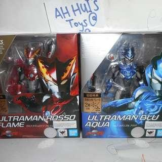 BANDAI SHF Ultraman R/B Ultraman Rosso Flame & Blu Aqua in set