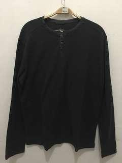 Unisex Just Jeans Dark Grey Buttoned Sweat Shirt