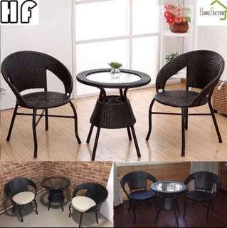 🚚 Outdoor table/Coffee table/Tea table/Type A(1+2)Black