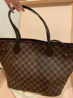 Authentic LV neverfull MM bag
