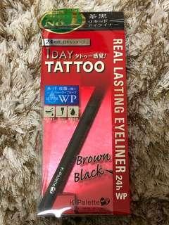 NEW! K-PALETTE 1 DAY TATTOO EYELINER BROWN BLACK