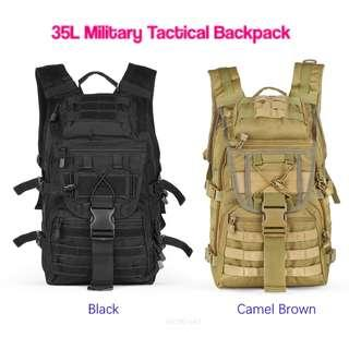 💯 35L Military Tactical Backpack Sport Outdoor for Hunting Camping Trekking