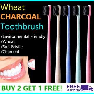 Wheat Charcoal Toothbrush high quality cheap and good FIRE SALE NOW