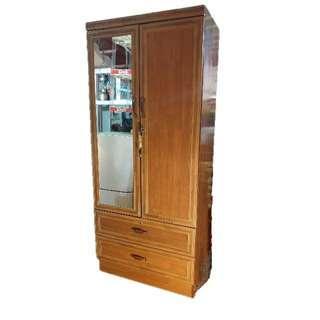 2Doors 2Drawers Mirror Wardrobe
