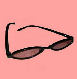 trendy 1-inch red tinted glasses
