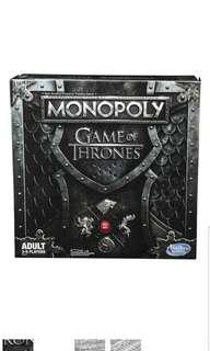 🚚 Monopoly Game of Thrones Board Game For Adults