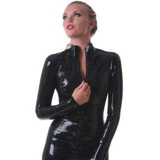 Latex catsuit.. Pure 100% latex size L.