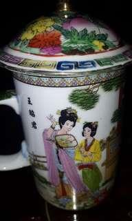 VINTAGE-CHINA -JAPANESE GEISHA MUG