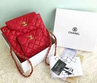 [[ada struknya]] Tas Chanel ransel