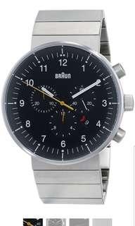🚚 Braun Men's BN0095BKSLBTG Prestige Chronograph Analog Display Swiss Quartz Silver Watch