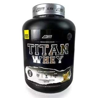 Whey Protein Halal – Titan Whey 2.1kg/4.63lbs,Whey Isolate With 22g Protein, 70 Servings - Fast Muscle Recovery (Vanilla Milkshake)