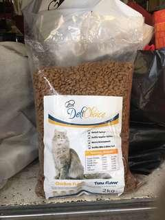 Clear stock cat food(2kg)x2bags