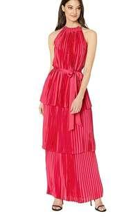 BN Dress Party Dress Halter Neck Red Yellow