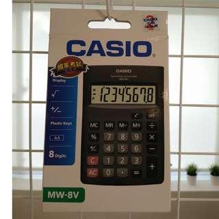 全新考試用計算機~CASIO卡西歐國家考試公告指定計算機MW-8V