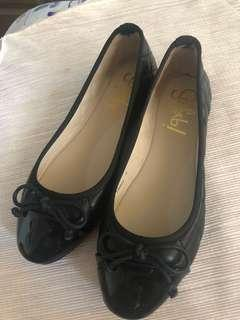 So Fab Chanel Inspired Black Doll Shoes