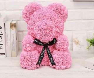 母親節禮物花束 25cm玫瑰花熊仔 求婚 結婚 生日 紀念日 禮物