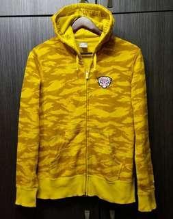 🚚 正品NIKE2010年虎年紀念款 女黃色虎紋連帽外套XL