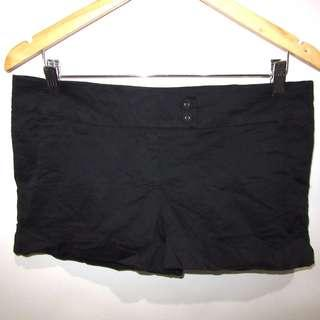 (33) Cotton On blackest black stretchy shorts, almost looks new, super nice in actual
