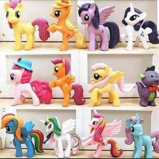 🚚 My little Pony figurine for Cake/Cupcake/Muffin Toppers for Party Decoration