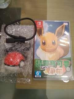 買coo'nuts 不倒翁,送Switch pokemon 伊貝,連(波及usb-c線)極新極平