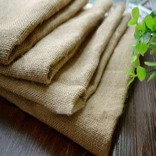 NATURAL BURLAP CLOTH FABRIC 100x160CM