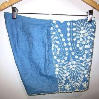 (Divided by H&M eyelet summer shorts, high-rise, side zipper, in almost looks new, super nice in actual