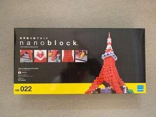 nano block 積木 (NB-022, 東京鐡搭 Tokyo Tower Deluxe Edition)